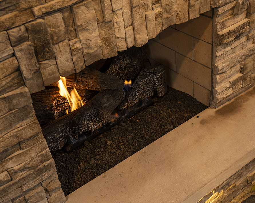 outdoor fireplaces can be wood-burning or gas-fueled