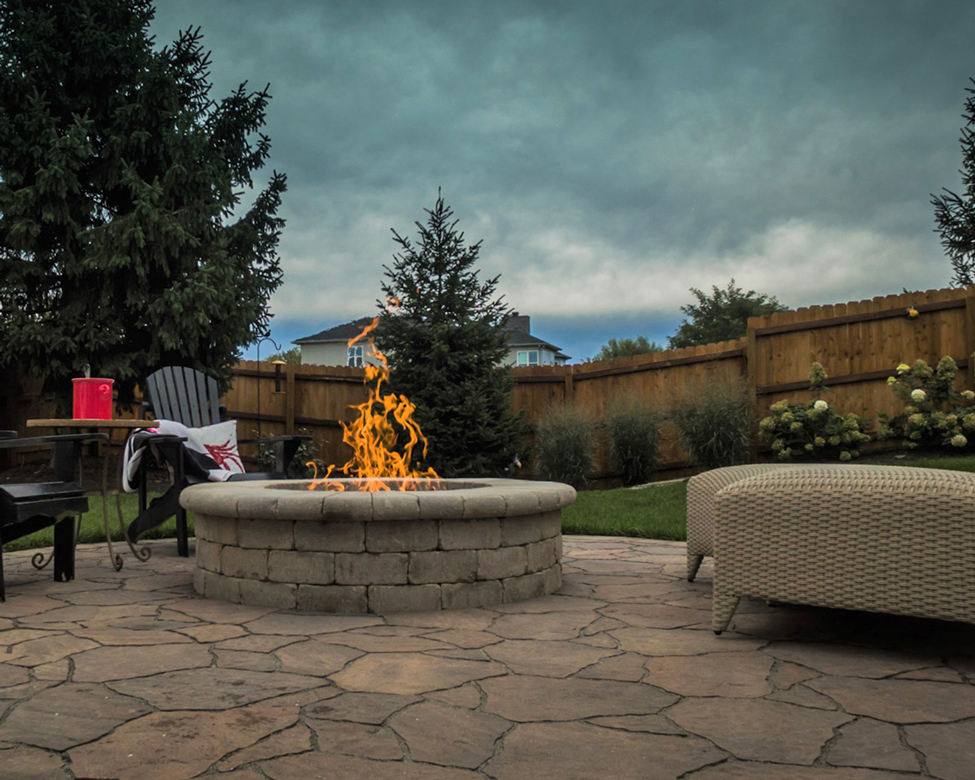 gas-fueled fire features are safe and easy to use