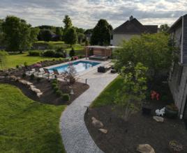 aerial view landscape design